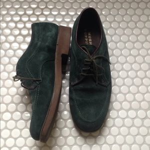 Hush Puppies | Green Suede Oxford Shoes 7.5